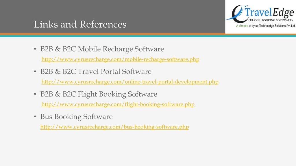 Cyrus Recharge– Travel Technology Solutions - ppt download