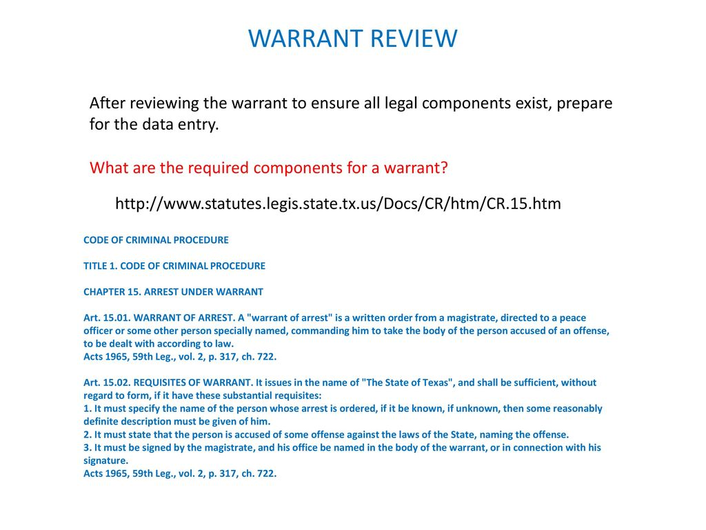 ncic tcic warrant entry ppt download rh slideplayer com NCIC Code Manual 2014 2013 CVO Breakout