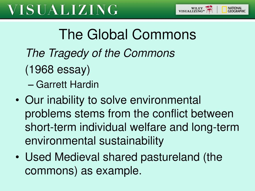 Environmental Sustainability And Human Values  Ppt Download The Global Commons The Tragedy Of The Commons  Essay Hiv Essay Paper also Science Essays Topics  Calligraphy Services