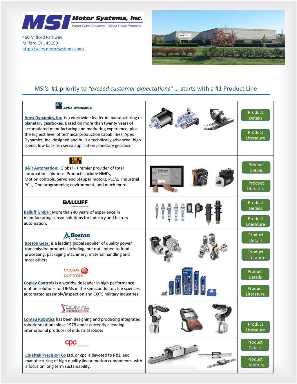 Msi Solutions Motion Control Stepper Motors Product Details Ppt Parker Electromechanical Automation Faq Site Servo 2 460