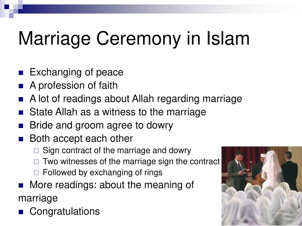 Marriage rites expectations ppt download marriage ceremony in islam m4hsunfo