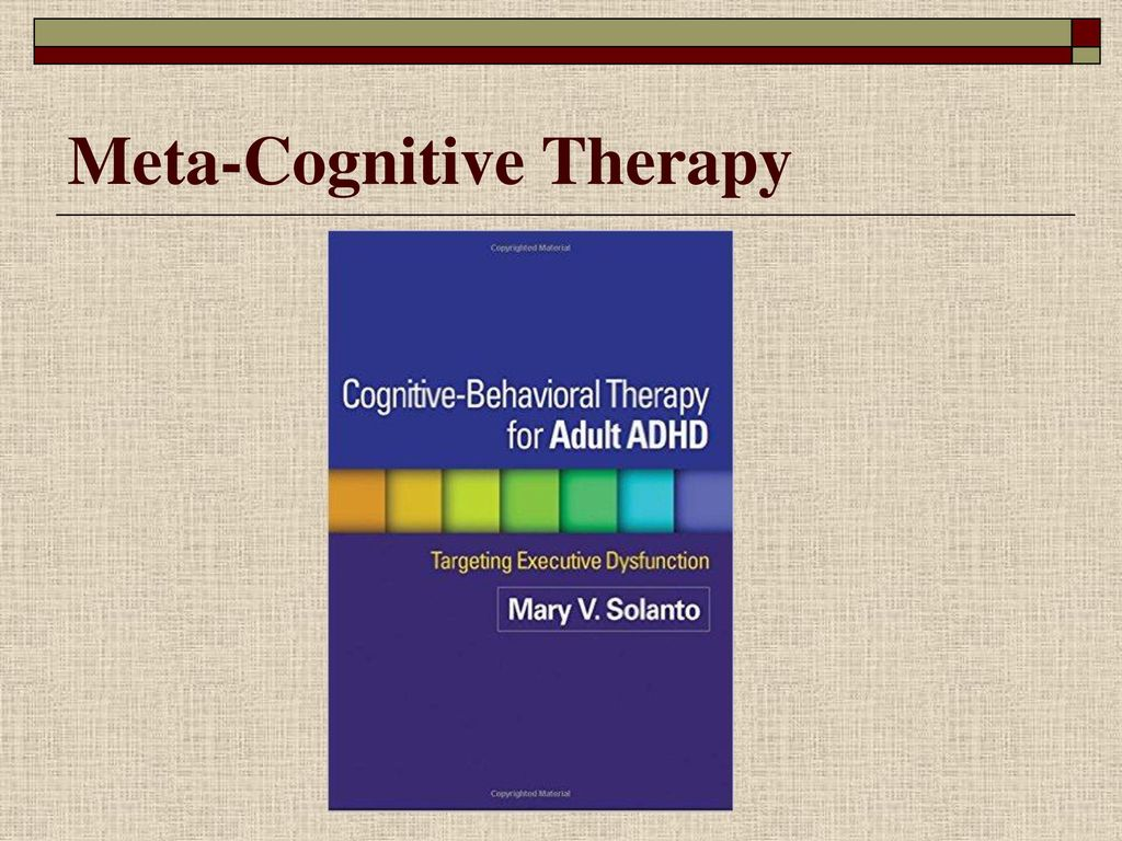 21 Meta-Cognitive Therapy