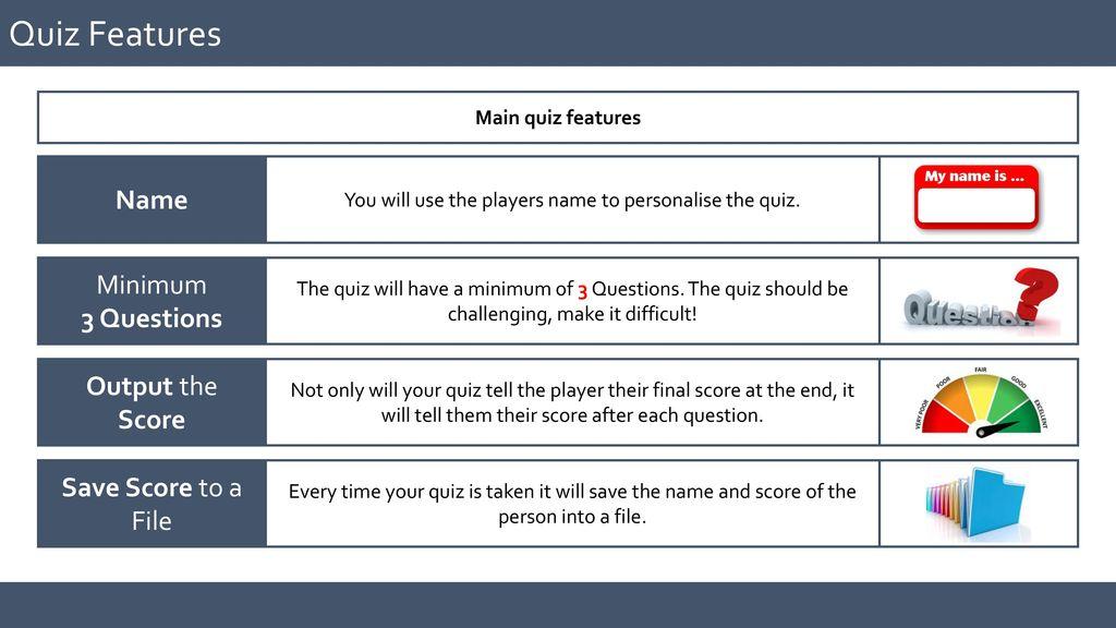 Create Your Own Quiz using_Python KS3 COMPUTING KS3