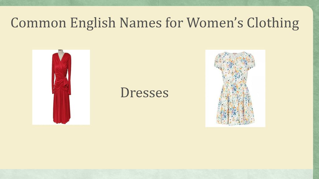 Clothes What Men And Women Wear Ppt Download