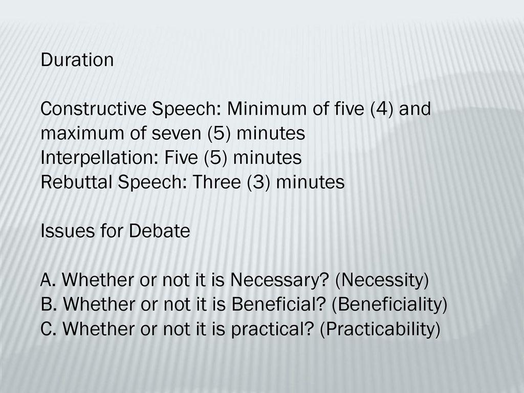 practicability debate