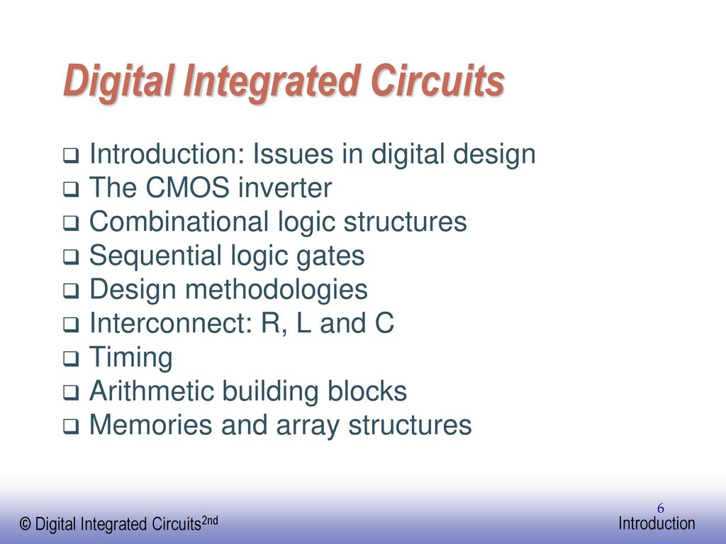 Digital Integrated Circuits A Design Perspective Ppt Download Cmos Gate Circuitry Logic Gates Electronics Textbook
