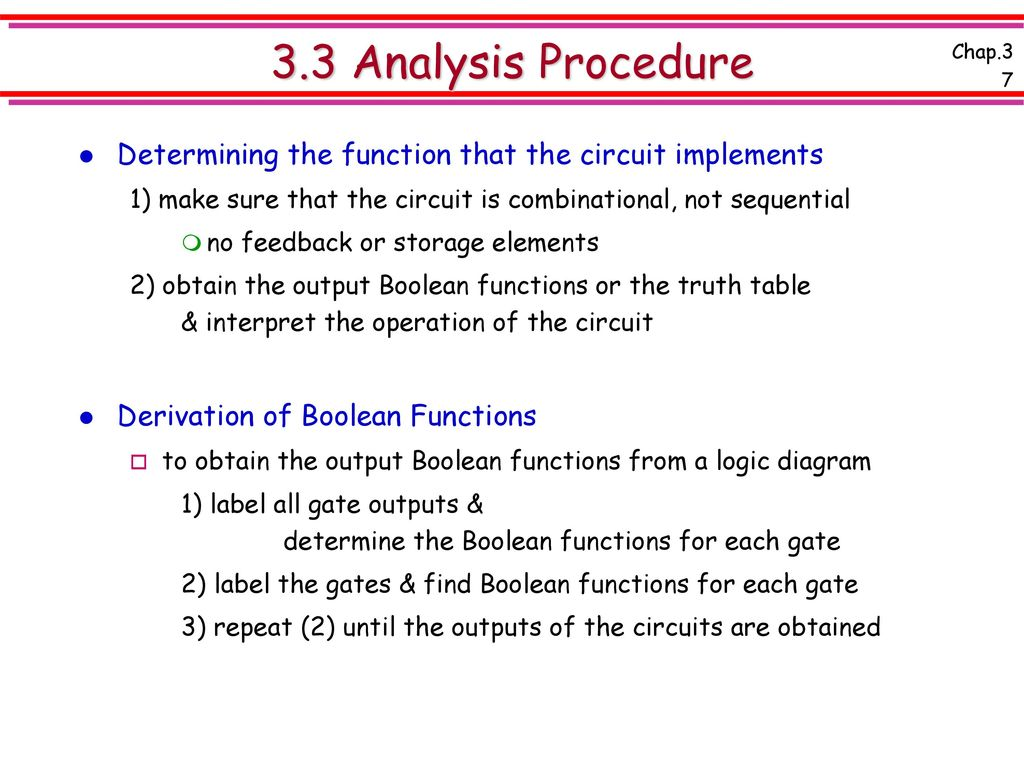 Chap 3 Combinational Logic Design Ppt Download How To Make A Diagram 33 Analysis Procedure Determining The Function That Circuit Implements 1 Sure