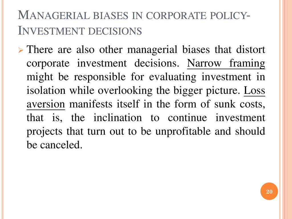 Behavioral Corporate Finance (II) - ppt download