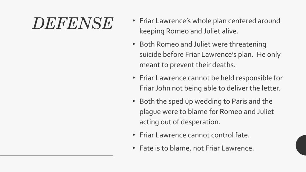 The trial of friar lawrence   ppt download