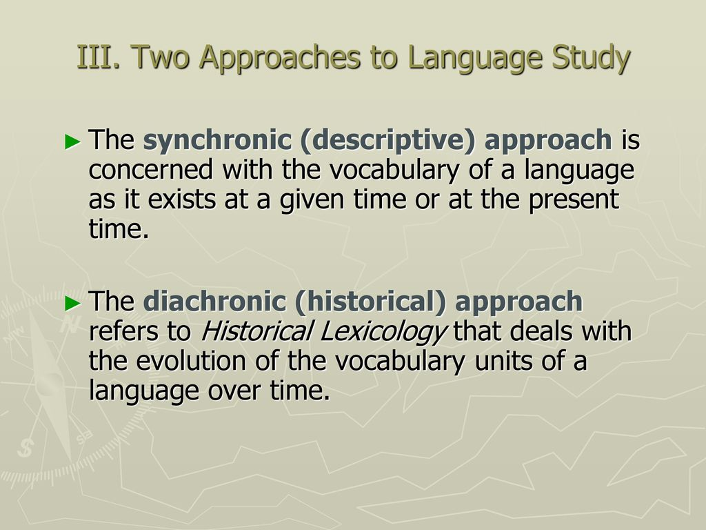 What is studying lexicology Section of science, studying vocabulary 98