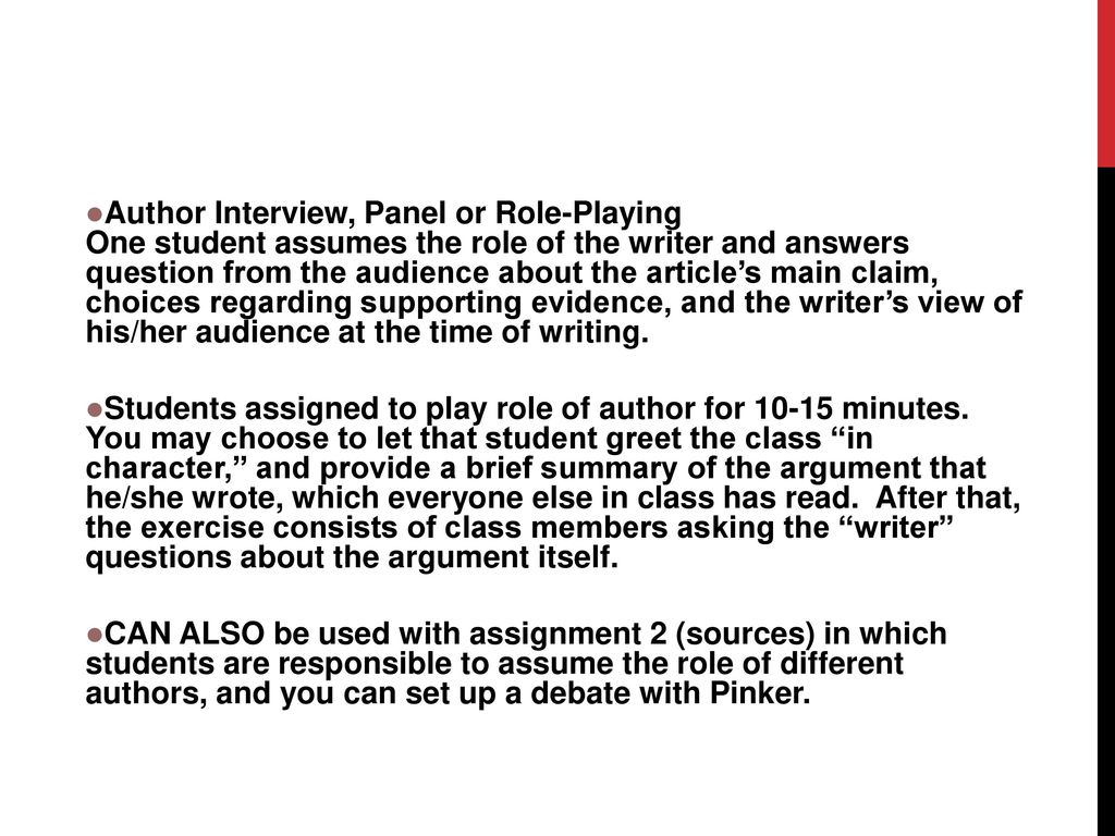 Welcome 200 welcome intro to rws200 and the lower division writing author interview panel or role playing one student assumes the role of the writer m4hsunfo