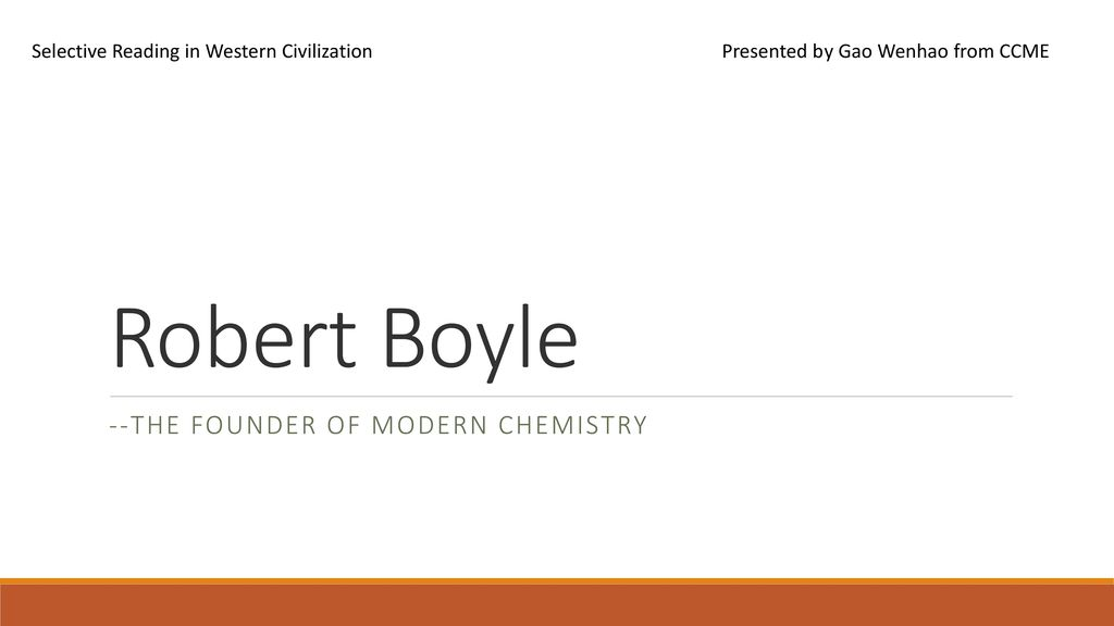 the founder of modern chemistry