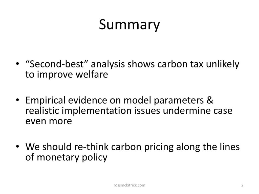 Issues in Carbon Pricing - ppt download