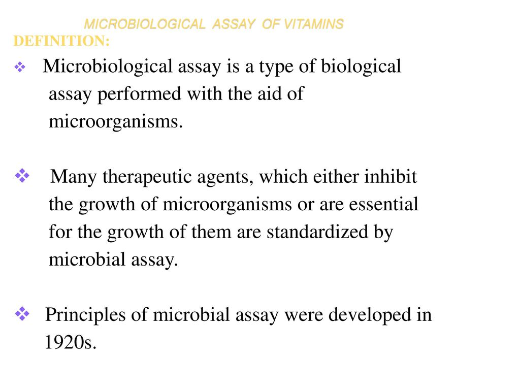 Microbiological assay ppt download.