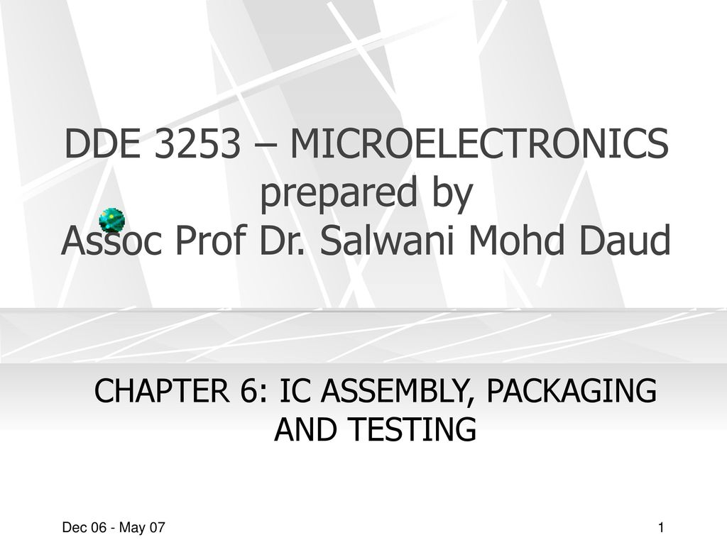 Chapter 6 Ic Assembly Packaging And Testing Ppt Download Packagedintegratedcircuit1jpg