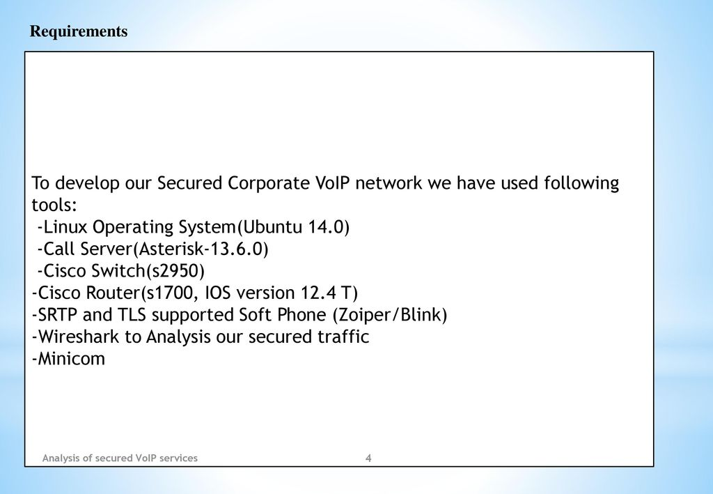 Analysis of secured VoIP services - ppt download