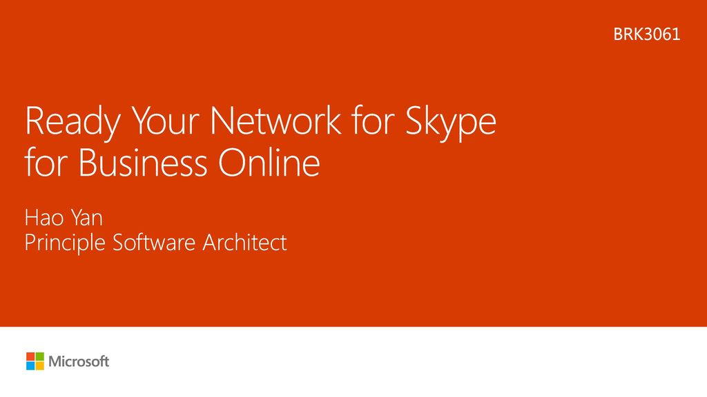 Ready Your Network for Skype for Business Online - ppt download