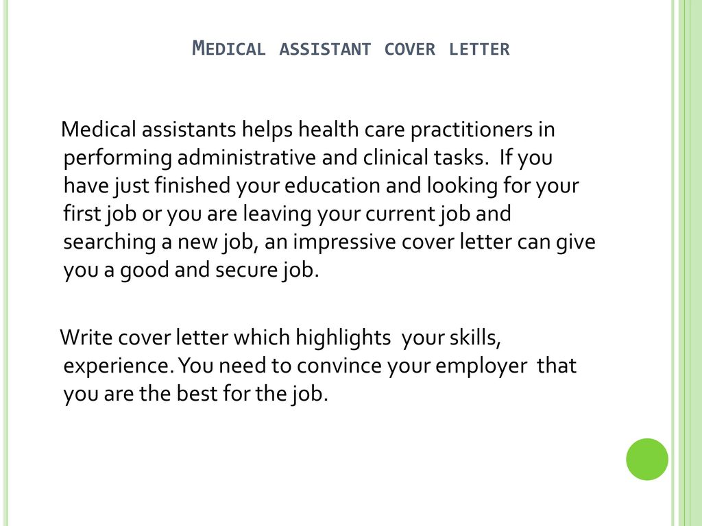 Medical assistant cover letter ppt download medical assistant cover letter altavistaventures Image collections
