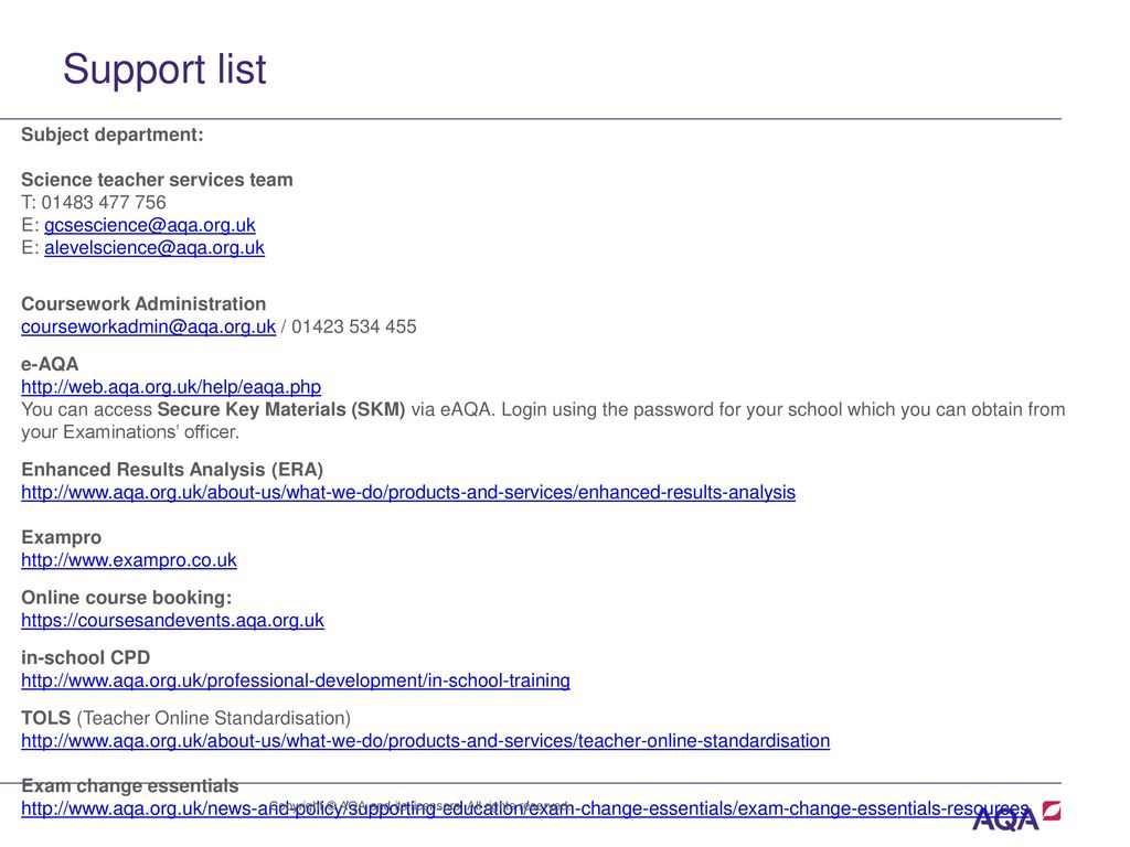 Aqa network meeting autumn ppt download 20 support publicscrutiny Images