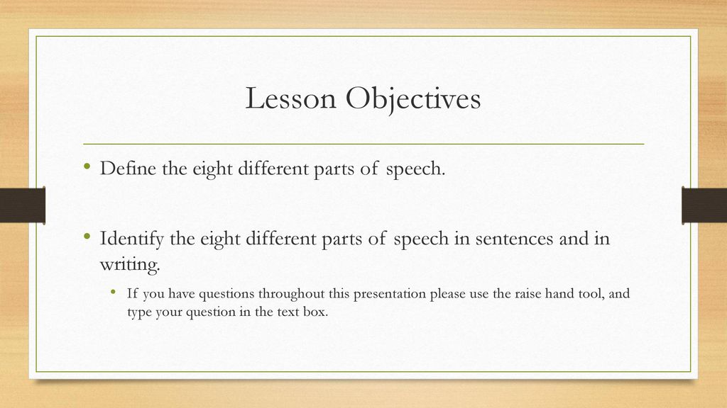 The 8 Parts of Speech Grade 10 English  - ppt download