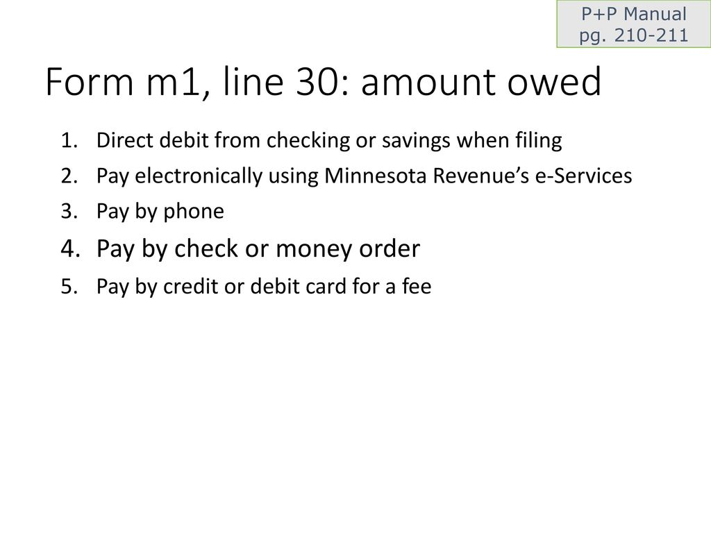 Basic c: Minnesota Income and Property Tax Returns tax year ppt download