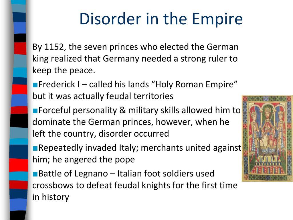 feudalism in germany strong weak points