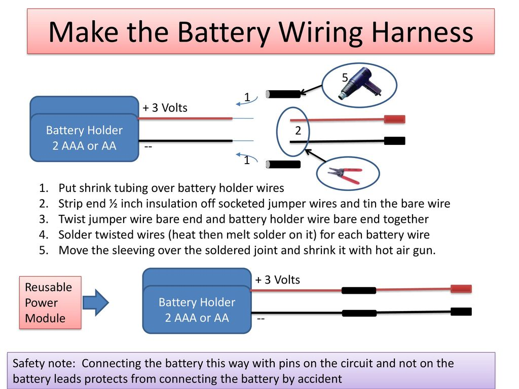 Introduction To Soldering Ppt Download Wiring Harness Tubing Make The Battery