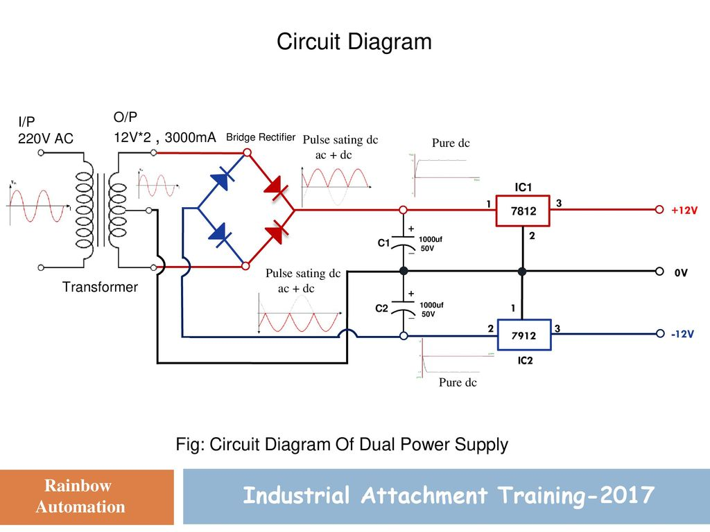 Dual Power Supply Design Industrial Attachment Training Ppt Download Control Circuit Bridge Rectifier Regulated Lab 2 2017