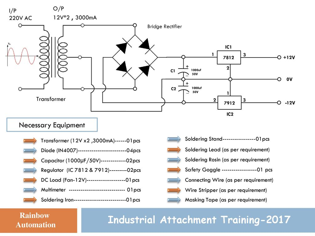 Dual Power Supply Design Industrial Attachment Training Ppt Download 3