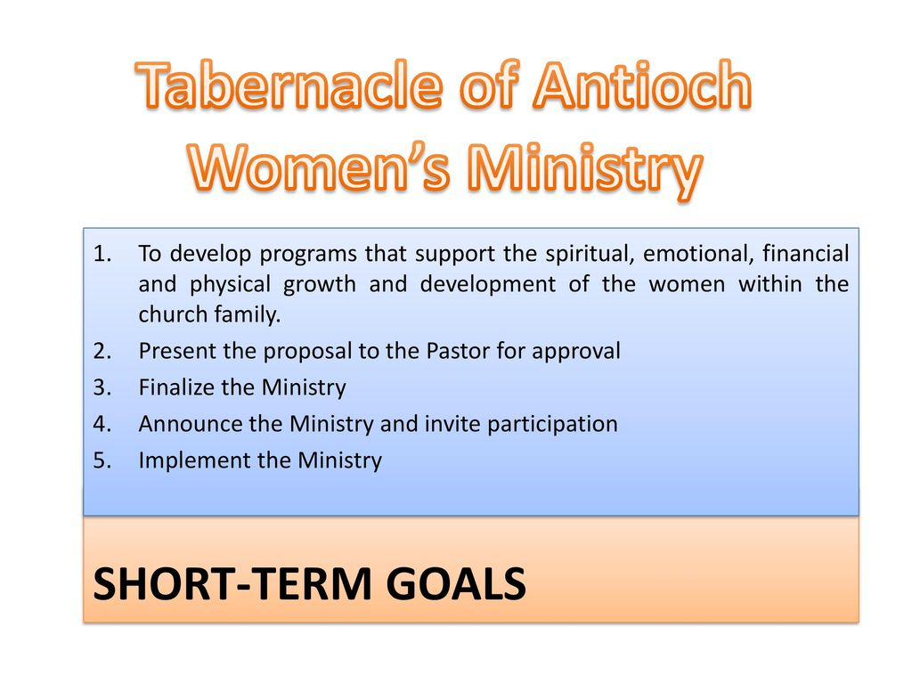 W O M E N Making a difference Tabernacle Of Antioch Worship Center