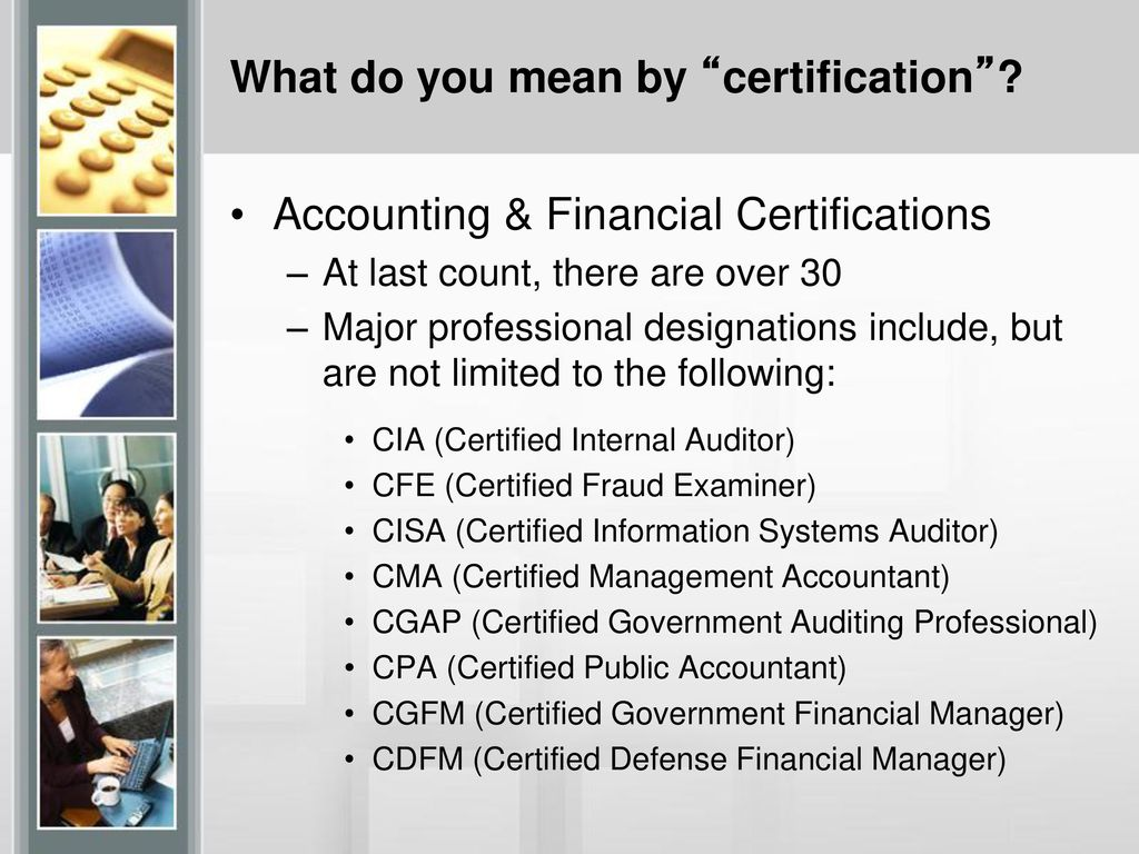 The Importance Of Certification In Todays Environment Ppt Download