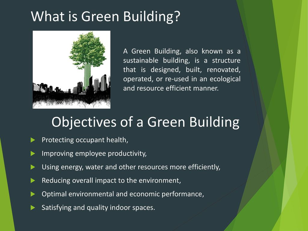 Objectives Of A Green Building