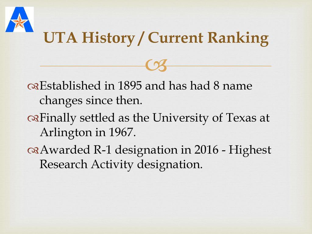 The University of Texas at Arlington (UTA) - ppt download
