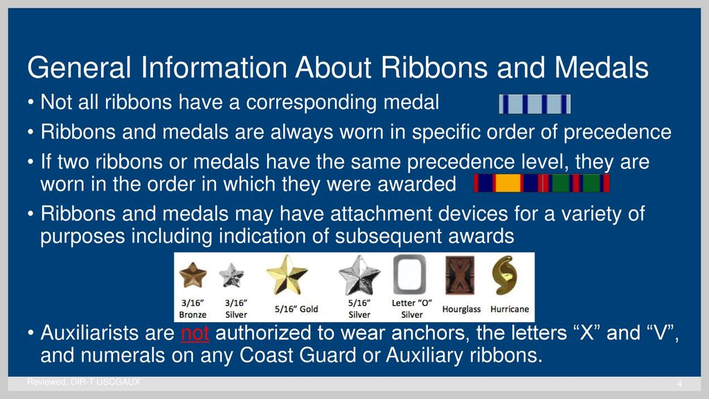 United States Coast Guard Auxiliary Ribbons and Medals - ppt