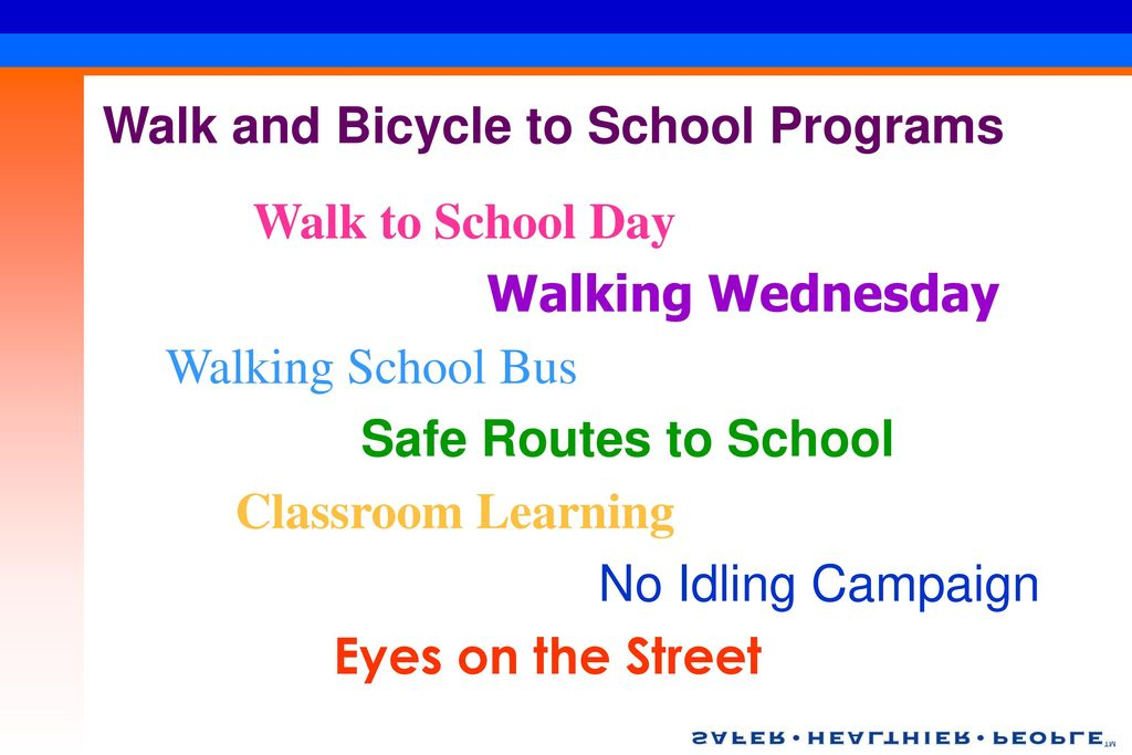 Walk and Bicycle to School Programs