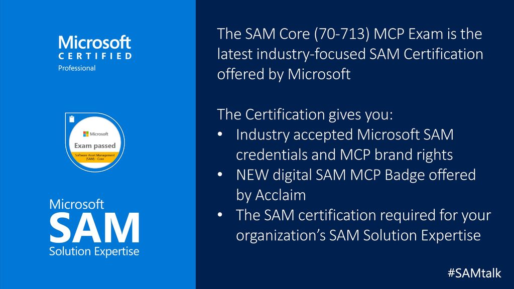 Sam Core 70 713 Mcp Exam Prep Tips Ppt Download