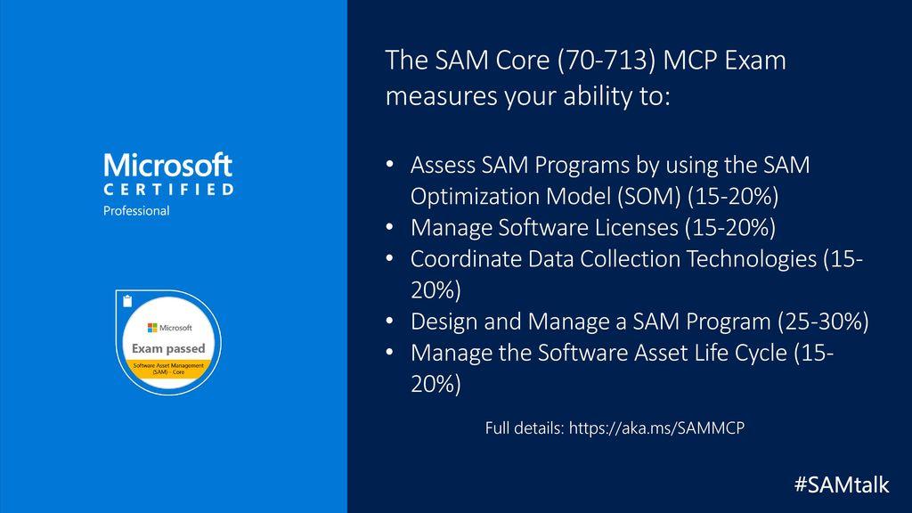 Sam Core 70 713 Mcp Exam Prep Tips Ppt Download