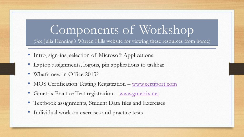 Microsoft Office Specialist Pd Workshop Ppt Download