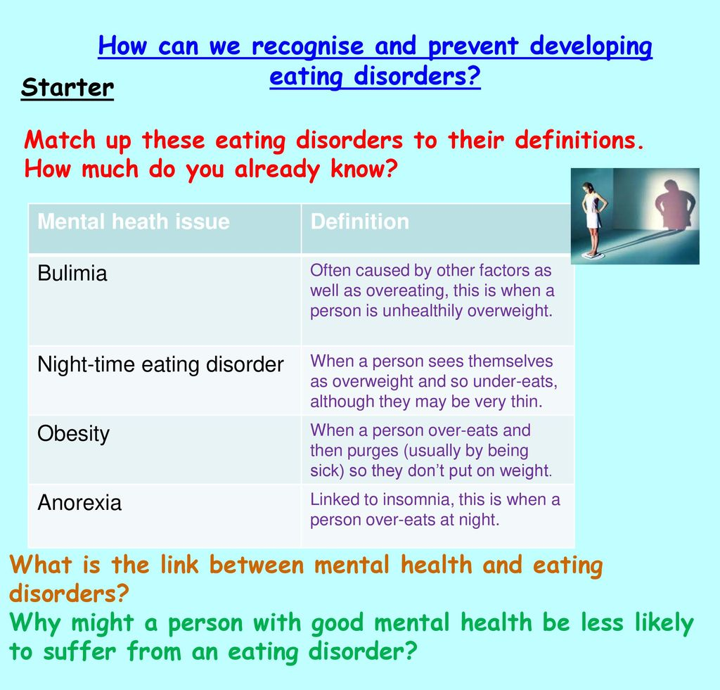 How can we recognise and prevent developing eating disorders