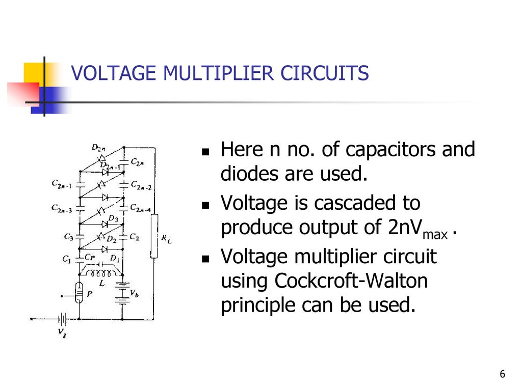 Voltage Doubler Supply Circuit Diagram Tradeoficcom Wiring Converter Walton Cascaded Ee 2353 High Engineering Ppt Download
