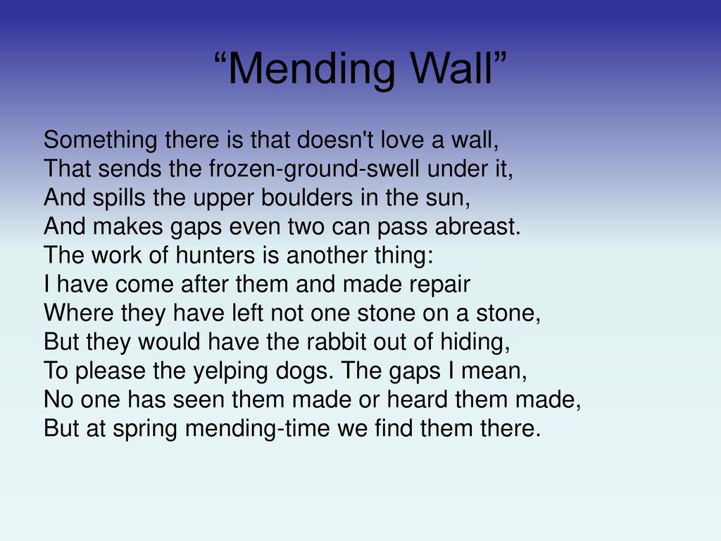 mending wall meter