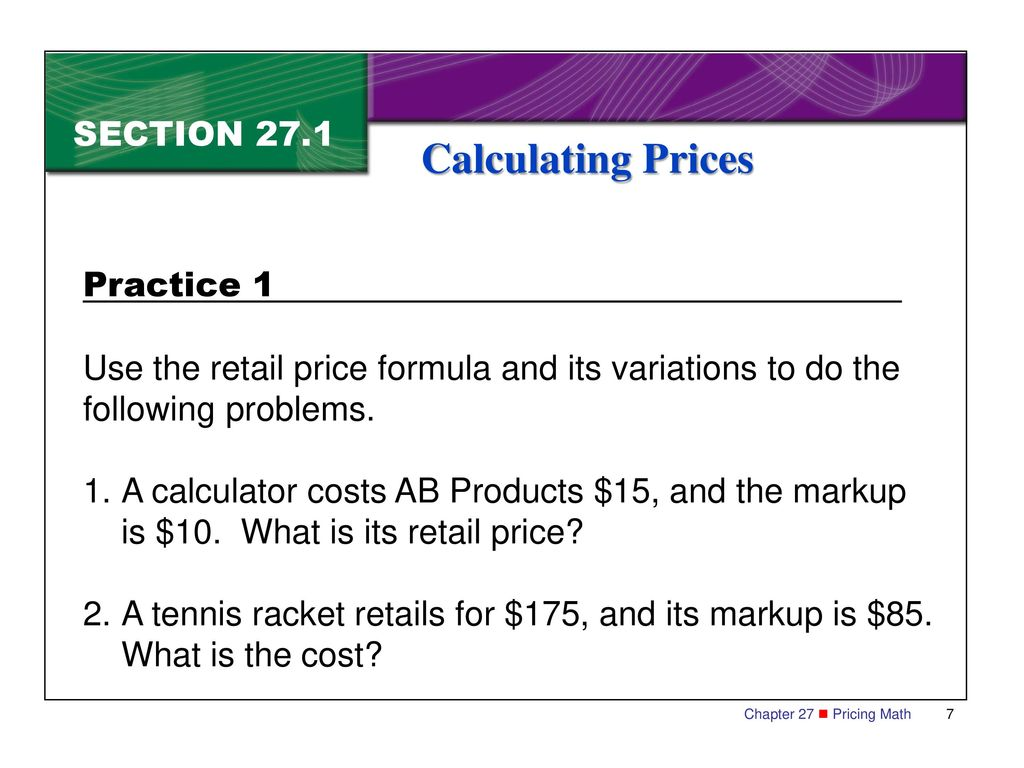 Marketing Essentials Calculating Prices  - ppt download