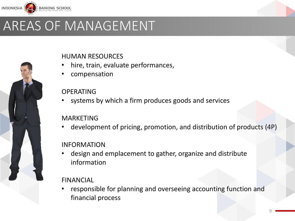 AREAS OF MANAGEMENT HUMAN RESOURCES