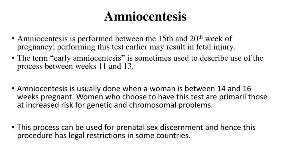 3 Amniocentesis Amniocentesis ...