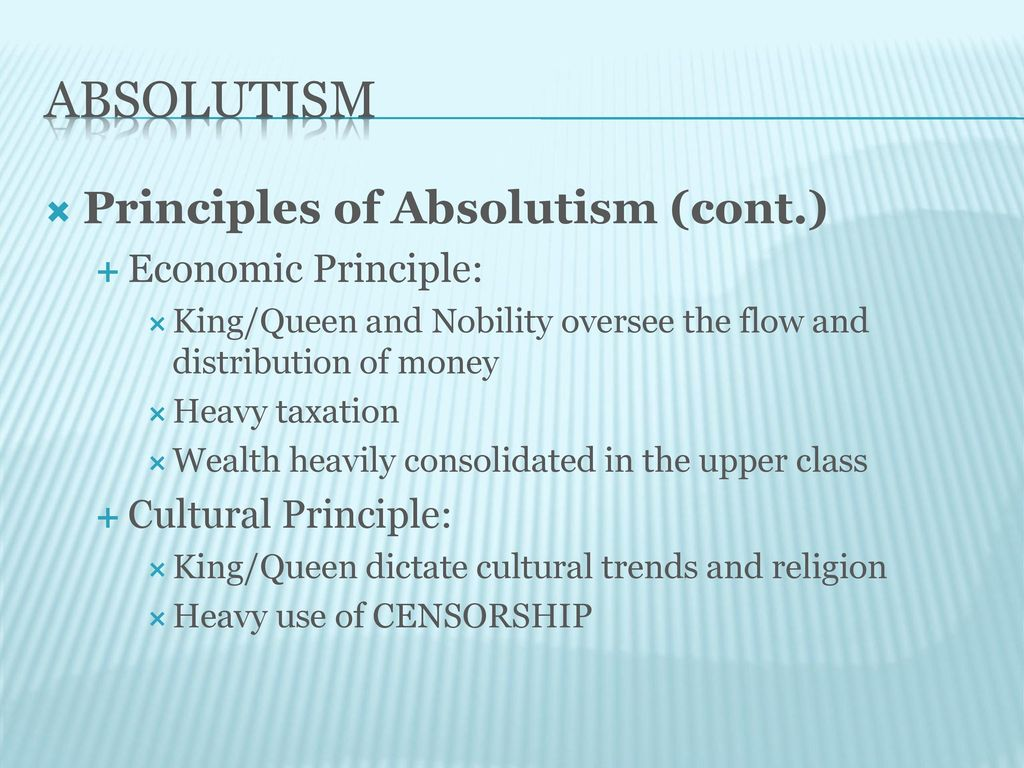 principles of absolutism