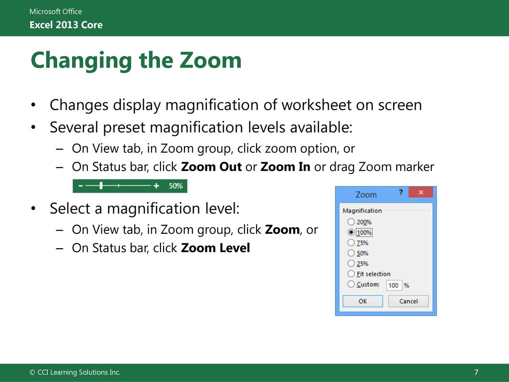 Lesson 5: Viewing and Printing Workbooks - ppt download