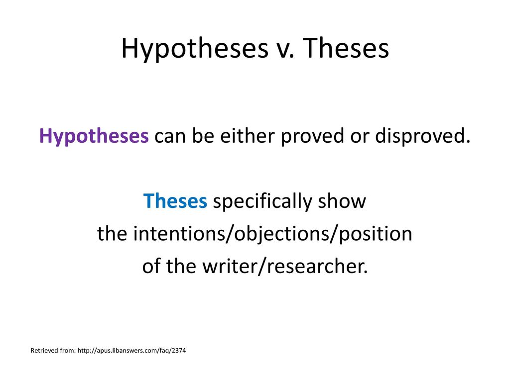 Thesis, Hypothesis, & Research Question Powerpoint Tutorial - Ppt Download