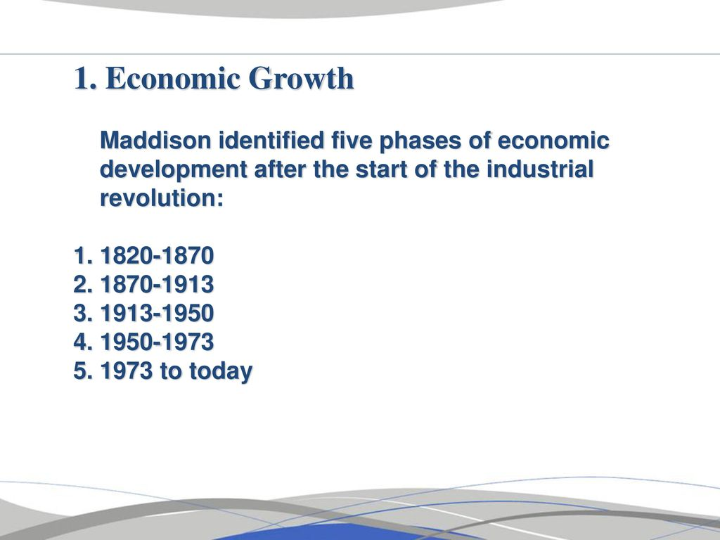 five phases of economic development