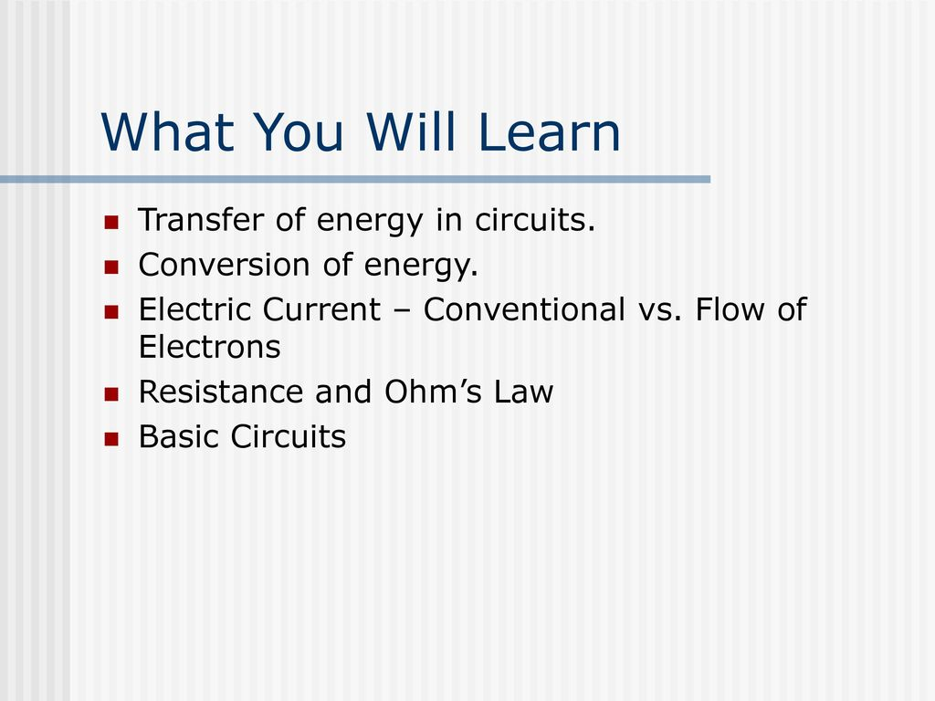 Current Electricity Parallel Circuit Series Ppt Download And Circuits What You Will Learn Transfer Of Energy In