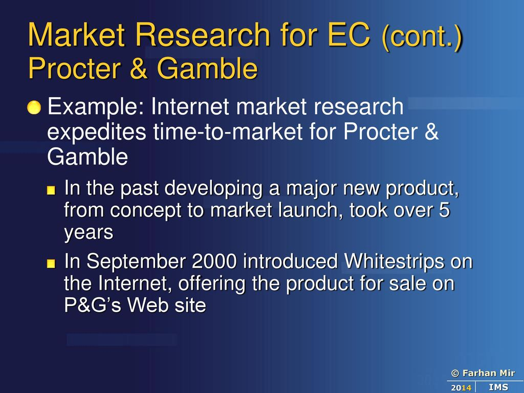 procter and gamble market research